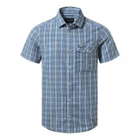 Warby Short-Sleeved Shirt Deep Blue Combo