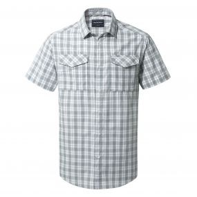 Crooble Short-Sleeved Shirt Cement Check