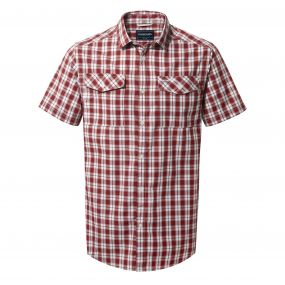 Crooble Short-Sleeved Shirt Red Earth Check