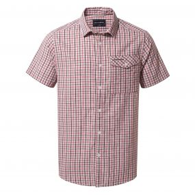 Garah Short-Sleeved Shirt Red Earth Check