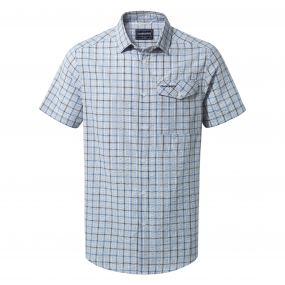 Garah Short-Sleeved Shirt Blue Navy Check