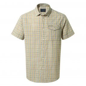 Garah Short-Sleeved Shirt Dark Moss Check