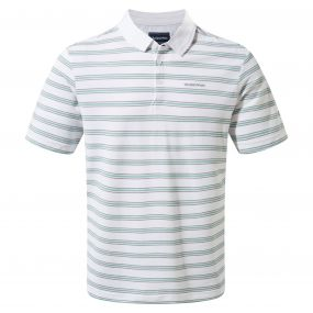 Geraldton Short-Sleeved Polo Light Bondi Blue Stripe