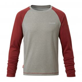 INSECT SHIELD BARNABY LONG SLEEVED T-SHIRT Carmine Red
