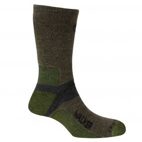 Mens Walking Sock Olive Cedar Black