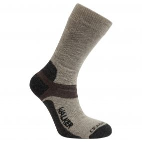 Mens Walking Sock Beach / Bark / Black Pepper
