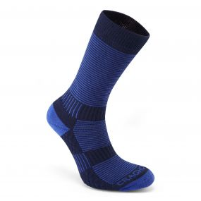 Heat Regulating Travel Sock Bright Blue / Dark Navy