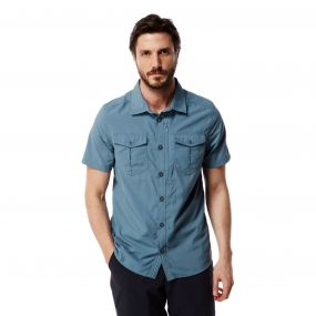 NosiLife Adventure Short Sleeved Shirt Smoke Blue