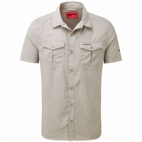 INSECT SHIELD ADVENTURE SHORT SLEEVED SHIRT Parchment