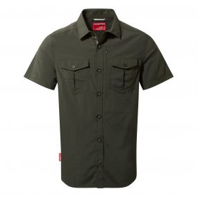 Insect Shield Adventure Short Sleeved Shirt Dark Khaki