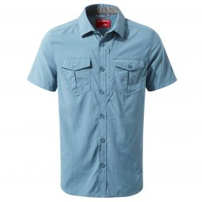 INSECT SHIELD ADVENTURE SHORT SLEEVED SHIRT Smoke blue