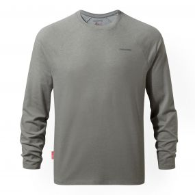 Insect Shield Bayame Long Sleeved Tee Soft Grey Marl