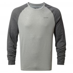Insect Shield Bayame Long Sleeved Tee Black Pepper Grey