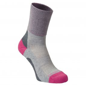 Summer Walking Sock Dove Platinum / Pink