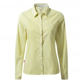 Insect Shield Shona Long Sleeved Shirt Limeade Combo
