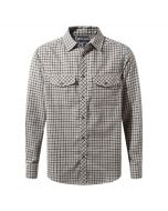 Kiwi Long-Sleeved Check Shirt Espresso Brown Combo