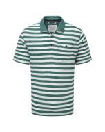 Fraser Short Sleeved Polo Lake Green Calico
