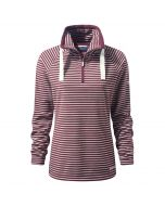 Rhonda Half-Zip Fleece Dark Rioja Red Combo