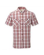Edmond Short Sleeved Shirt Brick Red Check