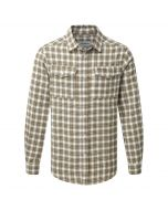 Kiwi Long Sleeved Check Shirt Espresso Brown