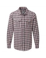 Kiwi Long Sleeved Check Shirt Oxblood