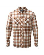 Andreas Long-Sleeved Check Shirt Burnt Umber Combo