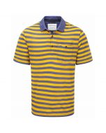 Fraser Short Sleeved Polo Dusk Blue Mustard