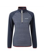 Tille Half-Zip Soft Navy Stripe Soft Navy