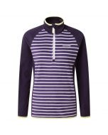 Tille Half-Zip Dark Plum Stripe Dark Purple