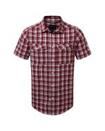 Wensley Short Sleeved Shirt Carmine Combo