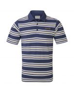 Creston Short-Sleeved Pique Polo Dusk Blue Combo